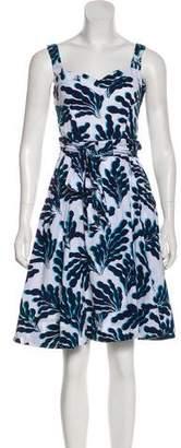Diane von Furstenberg Abstract Print Knee-Length Dress