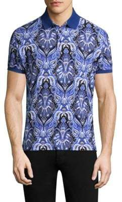 Etro Paisley Cotton Polo