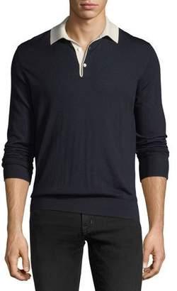 Ralph Lauren Contrast-Collar Wool Sweater