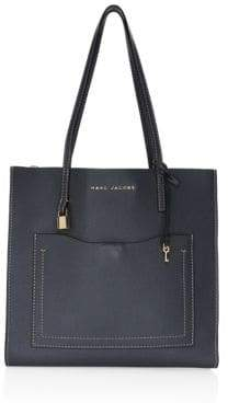 Marc Jacobs Women's Grind T Pocket Leather Tote Bag - Iron