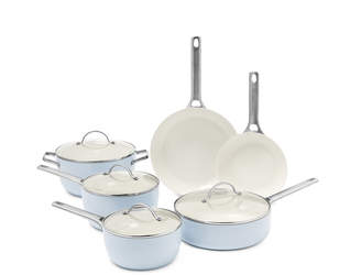 Green Pan Padova Ceramic Nonstick 10-Piece Cookware Set