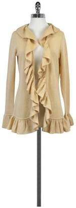 Minnie Rose Cashmere Beige Open Front Sweater $84.99 thestylecure.com