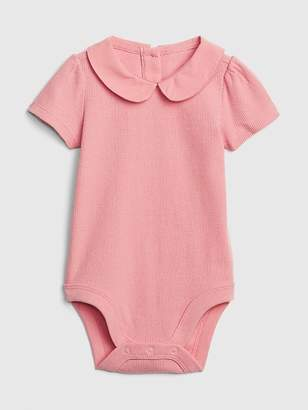 720732e9 Gap Baby Ribbed Peter Pan Collar Bodysuit