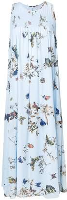 Steffen Schraut butterfly print midi dress