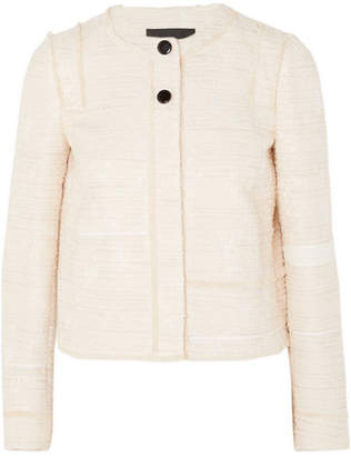 Proenza Schouler Lady Cotton-blend Bouclé-tweed Jacket - Off-white
