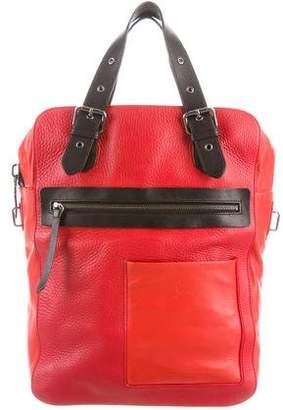 Christian Louboutin Grained Leather Messenger Bag