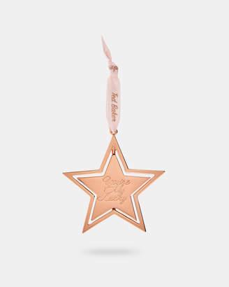 Ted Baker KATANA Spinning Star hanging Christmas charm