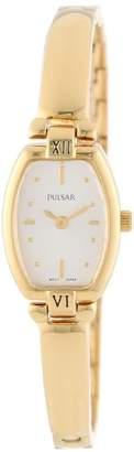 Pulsar Women's PEGA68 Gold-Tone Stainless Steel Bangle Watch