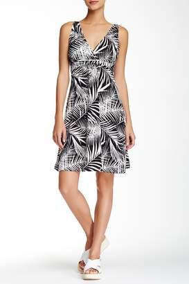 Papillon Surplice Printed Dress