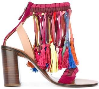 Chloé rainbow tassel sandals