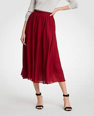 Ann Taylor Petite Cotton Gauze Midi Skirt