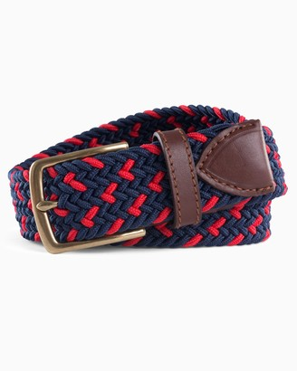 Southern Tide Braided Elastic Specked Web Belt
