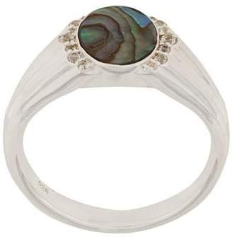 Astley Clarke Abalone Luna Signet ring