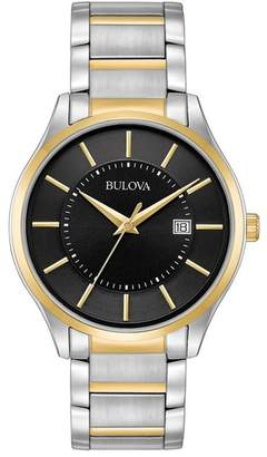 Bulova Men's Two-Tone Analog Quartz Bracelet Watch, 40mm