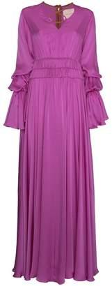 Roksanda Magenta silk Ansari dress