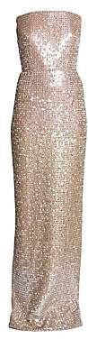 Ralph and Russo Ralph and Russo Women's Strapless Sequin Column Gown