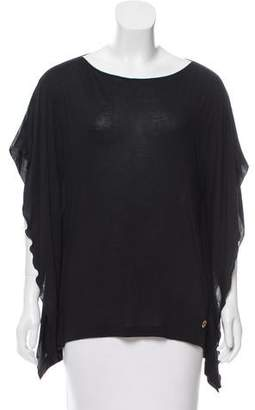 Gucci Silk-Accented Bateau Neck Top