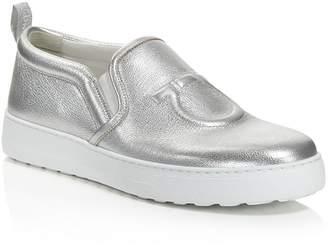 Salvatore Ferragamo Women's Folgaria Leather Slip-On Sneakers