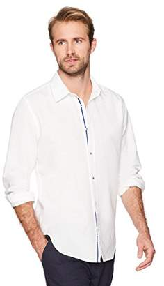 Isle Bay Linens Men's Slim-Fit Long Sleeve Button Down Casual Shirt XXX-Large