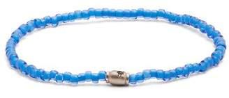 Luis Morais Mini Barrel Beaded Bracelet - Mens - Blue
