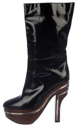 Marni Patent Leather Platform Boots