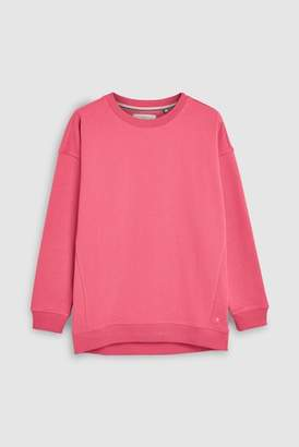 Next Womens Grey Slogan Cotton Sweatshirt