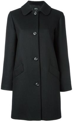 A.P.C. single breasted coat $398.91 thestylecure.com