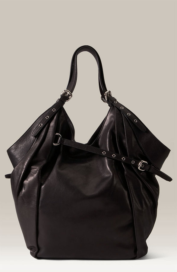 Kooba Asymmetrical Belt Bucket Bag