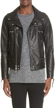 John Elliott Riders Leather Jacket