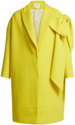 DELPOZO Bow-embellished wool coat