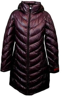 Calvin Klein Lightweight Packable Down Quilted Puffer Coat (, Plum)
