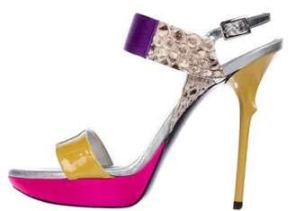 Roger Vivier Memphis Ankle Strap Sandals