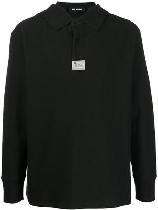 Raf Simons strappy-collar long-sleeved polo shirt