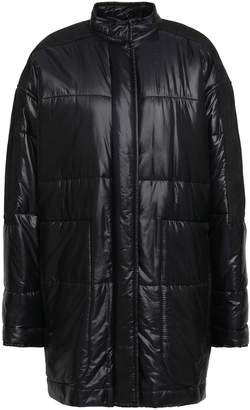 Haider Ackermann Suede-paneled Shell Coat