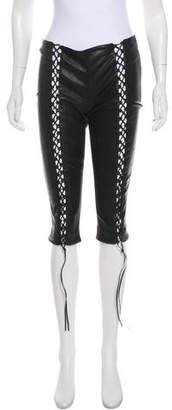 Alexander McQueen Mid-Rise Leather Pants
