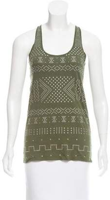 Torn By Ronny Kobo Embellished Sleeveless Top w/ Tags