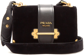 PRADA Cahier velvet cross-body bag $2,390 thestylecure.com