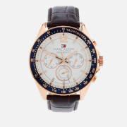 Tommy Hilfiger Men's Luke Leather Strap Watch - Brown