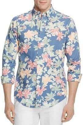 Brooks Brothers Regent Tropical Floral Print Slim Fit Button-Down Shirt $120 thestylecure.com