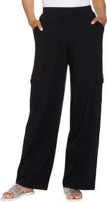 Denim & Co. Beach Regular Wide-Leg Pull-On Knit Cargo Pants