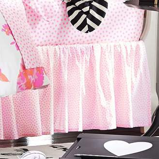 Pottery Barn Teen The Emily & Meritt Vibrant Star Bed Skirt, Twin, Neon Coral