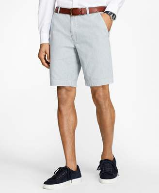 Brooks Brothers Stripe Chambray Shorts