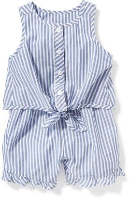Striped Tie-Front Romper for Baby $19.94 thestylecure.com