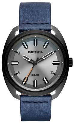 Diesel Men's Fastbak Denim Leather Watch, 51mm