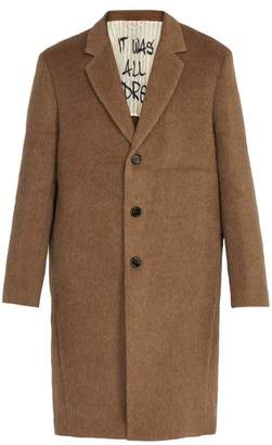 Presidents - Single Breasted Brushed Alpaca Blend Coat - Mens - Beige