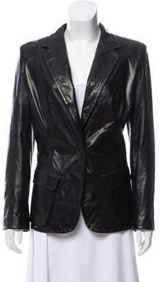 Kaufman Franco KAUFMANFRANCO Structured Leather Jacket