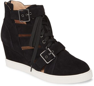 Linea Paolo Fave Cutout Wedge Sneaker