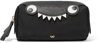 Anya Hindmarch Monster Printed Leather-trimmed Shell Cosmetics Case