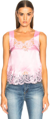 Givenchy Satin Lace Trim Tank