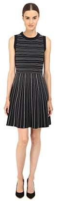 Kate Spade Women's Knit Stripe Fit and Flare Dress
